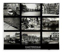 Amsterdam By Jenny Rainbow Fleece Blanket