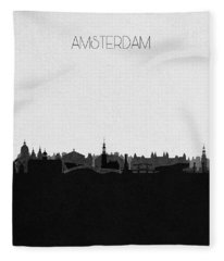 Amsterdam Cityscape Art Fleece Blanket