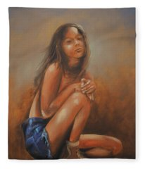 Amsterdam Girl Fleece Blanket
