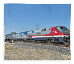 Amtrak 42  Veteran's Special Fleece Blanket