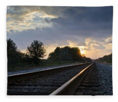 Amtrak Railroad System Fleece Blanket