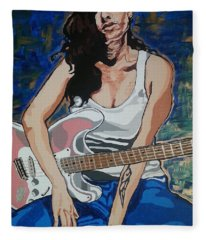 Amy Winehouse Fleece Blanket