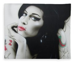 Amy Your Music Will Echo Forever Fleece Blanket