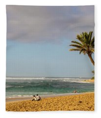 An Afternoon At Sunset Beach Fleece Blanket