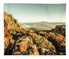 An Alpine Morning Fleece Blanket