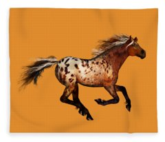 An Appaloosa Called Ginger Fleece Blanket