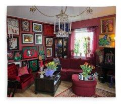 An Artists Livingroom Fleece Blanket
