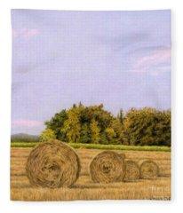 An Autumn Evening Fleece Blanket