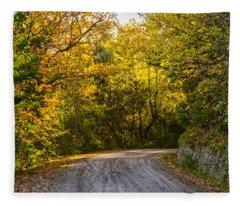 An Autumn Landscape - Hdr 2  Fleece Blanket