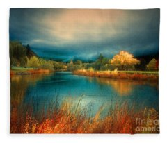 An Autumn Storm Fleece Blanket