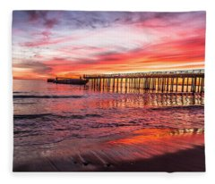 Seacliff Sunset Fleece Blanket