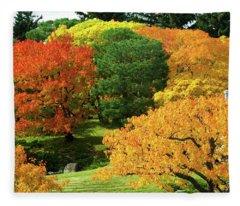 An Explosion Of Color Fleece Blanket
