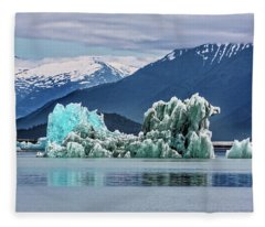 An Iceberg In The Inside Passage Of Alaska Fleece Blanket