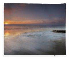 An Impressionable Sea Fleece Blanket