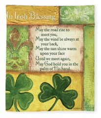 An Irish Blessing Fleece Blanket