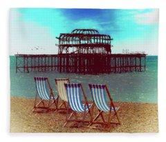 An Ode To Brighton Fleece Blanket