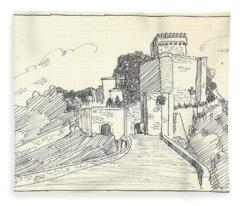 An Old Castle Fleece Blanket