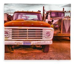 An Old Ford And Kenworth Fleece Blanket