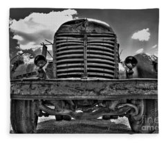 An Old International Truck Fleece Blanket