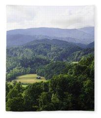 An Old Shack Hidden Away In The Blue Ridge Mountains Fleece Blanket