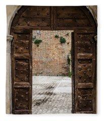 An Old Wooden Door 2 Fleece Blanket