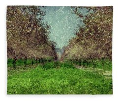 An Orchard In Blossom In The Eila Valley Fleece Blanket
