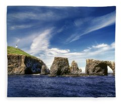 Channel Islands National Park - Anacapa Island Fleece Blanket
