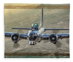 Analog Bomber Fleece Blanket