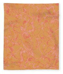 Analogous Dribble Painting Fleece Blanket