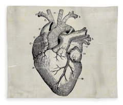 Anatomical Heart Medical Art Fleece Blanket