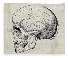 Anatomical Skull Medical Art Fleece Blanket