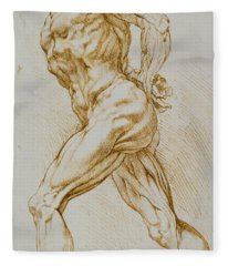 Anatomical Study Fleece Blanket