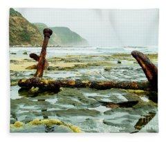 Anchor At Rest Fleece Blanket