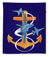 Anchors Aweigh Fouled Anchor Fleece Blanket