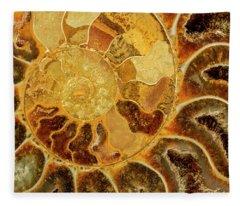 Ancient Ammonite Fleece Blanket