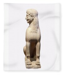 Ancient Grecian Sphinx Fleece Blanket