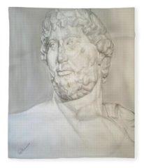 Ancient Greek Statue Fleece Blanket