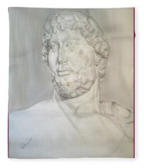 Ancient Greek Statue Fleece Blanket