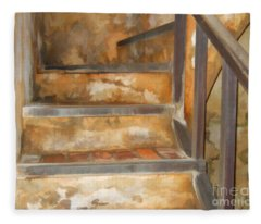 Ancient Stairway Fleece Blanket