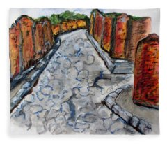 Ancient Street, Pompeii Fleece Blanket