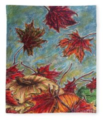 And The Leaves Came Tumbling Down Fleece Blanket