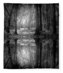 And There Is Light In This Dark Forest Fleece Blanket