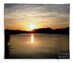 Anderson Stormwater Park In Rockledge Florida Fleece Blanket