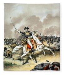 Andrew Jackson At The Battle Of New Orleans Fleece Blanket