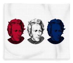 Andrew Jackson Red White And Blue Fleece Blanket