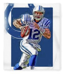 Andrew Luck Indianapolis Colts Oil Art Fleece Blanket