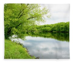 Androscoggin River Fleece Blanket