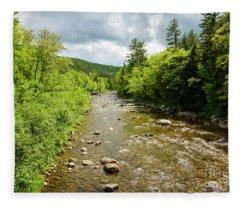 Androscoggin River Gilead Fleece Blanket