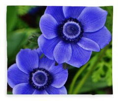 Anemone Nemorosa Fleece Blanket