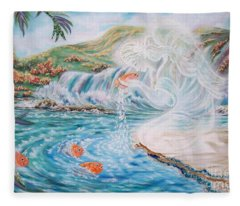 Angel And The Fishes  Flying-lamb-productions  Fleece Blanket